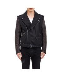 Marcelo Burlon - Black Men's Pendleton Moto Jacket for Men - Lyst