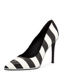 Givenchy | Black Striped Leather Pump | Lyst