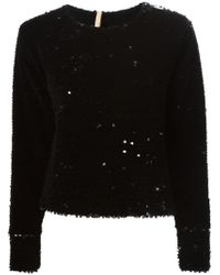 Maria Lucia Hohan - Black Long Sleeve Sequin Top - Lyst