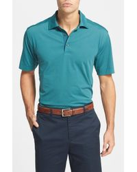 Cutter & Buck | Blue 'medina Stripe' Drytec Moisture Wicking Polo for Men | Lyst