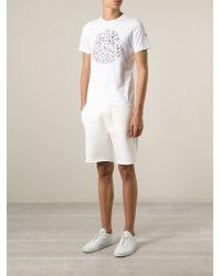 Moncler White Paint Splatter Print T-shirt for men