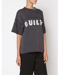 Bernhard Willhelm Gray 'guilty' T-shirt