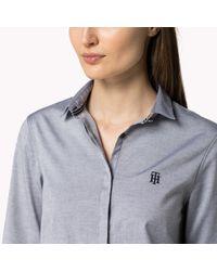 Tommy Hilfiger - Blue Stretch Cotton Oxford Shirt - Lyst