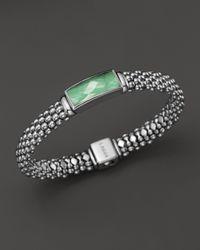 Lagos Green Sterling Silver Maya Variscite Doublet Rope Bracelet