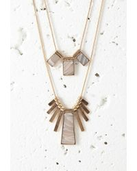 Forever 21 - Pink Faux Stone Necklace Set - Lyst