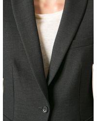 Alberto Biani Gray Classic Fitted Blazer