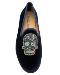 Del Toro - Black Dia De Los Muertos Slipper for Men - Lyst