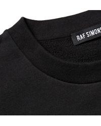 Raf Simons Black Photographic Printed Cotton-jersey Sweatshirt for men