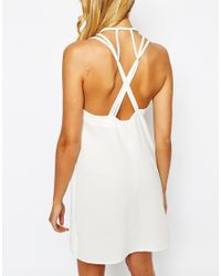 Love Natural Low Back Shift Dress With Strap Detail - Cream