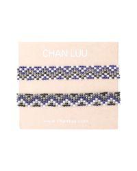 Chan Luu - Blue 2 Pack Beaded Stretch Bracelet - Lyst