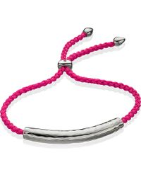 Monica Vinader - Metallic Esencia Sterling Silver Friendship Bracelet - For Women - Lyst