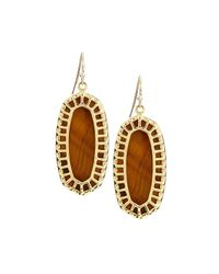 Kendra Scott | Metallic Dayla Oval Earrings | Lyst