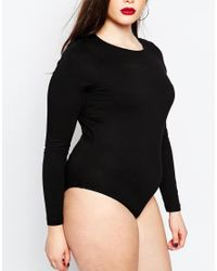 ASOS | Black Body With Crew Neck And Long Sleeves | Lyst