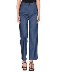 Prada - Blue Denim Trousers - Lyst