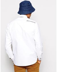 Aape White By A Bathing Ape Oxford Shirt With In Applique for men