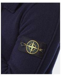 Stone Island - Blue Button Through Cardigan for Men - Lyst