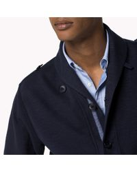 Tommy Hilfiger - Blue Garment Dyed Wool Sweater for Men - Lyst