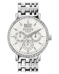 Versus Metallic 'manhasset' Chronograph Bracelet Watch