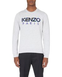 KENZO | Gray Paris Cotton-jersey Sweatshirt for Men | Lyst