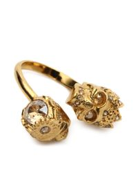 Alexander McQueen - Metallic Queen And King Skull Ring - Lyst