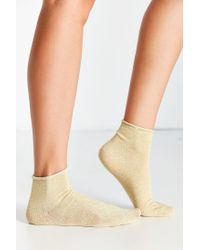 Urban Outfitters Metallic Anklet Sock