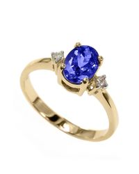 Effy | Blue Violette 14k Yellow Gold Tanzanite And Diamond Ring | Lyst