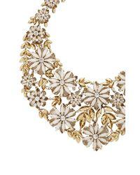 BCBGMAXAZRIA - Metallic Layered Floralstone Necklace - Lyst