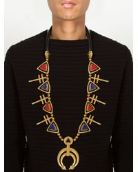 Ambush | Metallic Stone Embellished Pendants Necklace for Men | Lyst