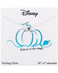 Disney | Metallic Cinderella Carriage Pendant Necklace In Sterling Silver | Lyst