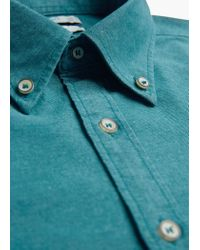 Mango | Green Slim-fit Cotton Oxford Shirt for Men | Lyst