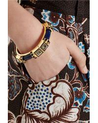 Etro - Blue + V&A Gold-Plated, Swarovski Crystal And Resin Bracelet - Lyst