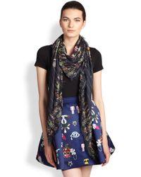 Mary Katrantzou - Multicolor Tikki Man Printed Modal & Cashmere Scarf - Lyst