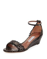 Tabitha Simmons - Black Juniper Leather Sandals - Lyst