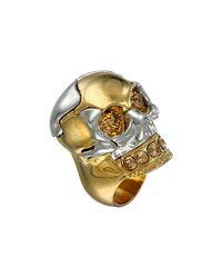 Alexander McQueen | Metallic Puzzle Ring | Lyst