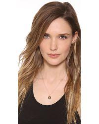 Sarah Chloe - Metallic Eva Engraved Pendant Necklace - N - Lyst