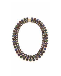 Erickson Beamon - Triple Layer Crystal Necklace - Purple/green/blue - Lyst