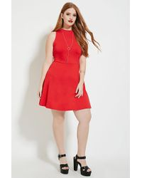 Forever 21 Plus Size High-neck Dress in Red - Lyst c58c7aaf5