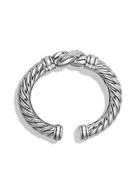 David Yurman | Metallic Metro Cuff With Diamonds | Lyst