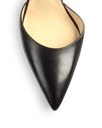Michael Kors Black Adelaide Leather Anklestrap Pumps