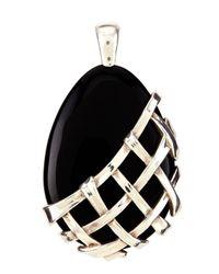 Slane | Crescent Weave Black Onyx Pendant | Lyst