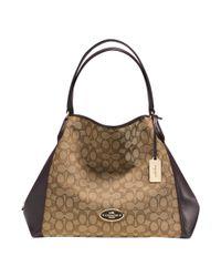 COACH - Metallic Edie Shoulder Bag Signature - Lyst