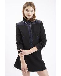 TOPSHOP Black Harrington Jacket