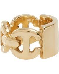 Hoorsenbuhs - Metallic Diamond Gold Plate Ring - Lyst