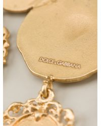 Dolce & Gabbana Metallic Roman Coin Earrings
