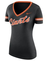 Nike Black Women's San Francisco Giants Cooperstown Slim-fit T-shirt