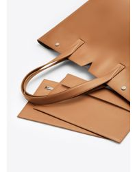 Vince Brown East/West Leather Tote