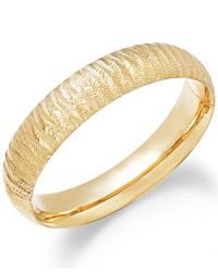 Macy's - Metallic Chevron-cut Bangle Bracelet In 14k Gold - Lyst
