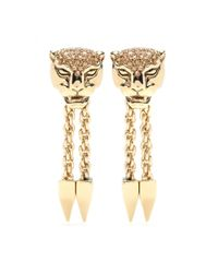 Roberto Cavalli Metallic Gold-Plated Clip-On Earrings