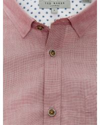 Ted Baker Gomyway Textured Cotton Shirt for men