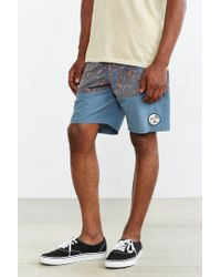 Vans | Blue Psych Panel Swim Short | Lyst